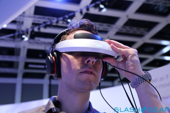 Sony's Virtual TV Headset - photo credit: slashgear